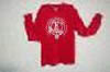 Adult red long sleeved T-shirt with large white logo